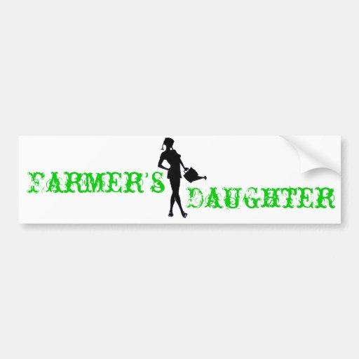 Farmer's Daughter Bumper Sticker