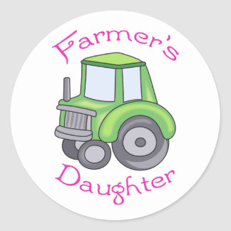 Farmer's Daughter Classic Round Sticker
