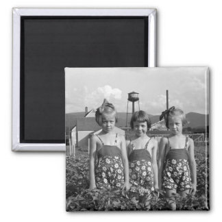 Farmer's Daughters, 1939 2 Inch Square Magnet