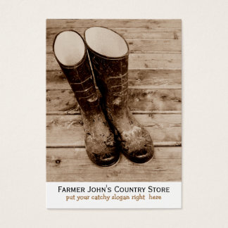 Farmer's Dirty Boots mean Country Living Business Card