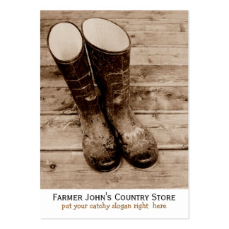 Farmer's Dirty Boots mean Country Living Large Business Card