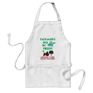 Farmers do it in the field adult apron