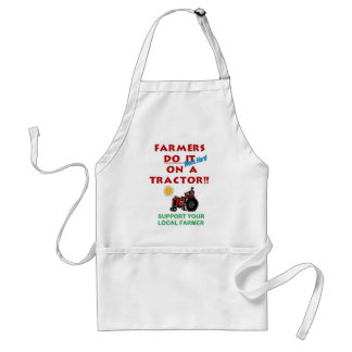 Farmers do it on a tractor adult apron