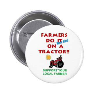 Farmers do it on a tractor button