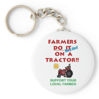 Farmers do it on a tractor keychain