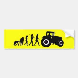 Farmers Evolution of Farming Farm Tractor Drivers Bumper Sticker