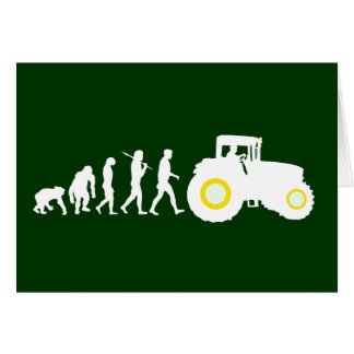 Farmers Evolution of Farming Farm Tractor Drivers Card