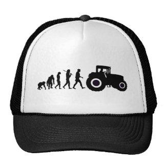 Farmers Evolution of Farming Farm Tractor Drivers Trucker Hats