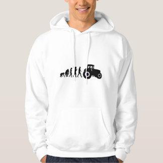 Farmers Evolution of Farming Farm Tractor Drivers Hoodie