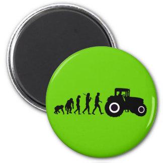 Farmers Evolution of Farming Farm Tractor Drivers Fridge Magnet