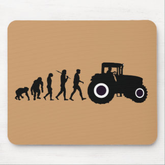 Farmers Evolution of Farming Farm Tractor Drivers Mouse Pad