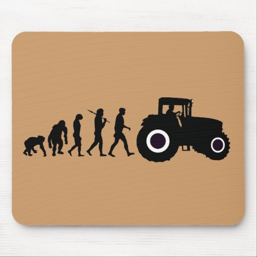 Farmers Evolution of Farming Farm Tractor Drivers Mouse Pads