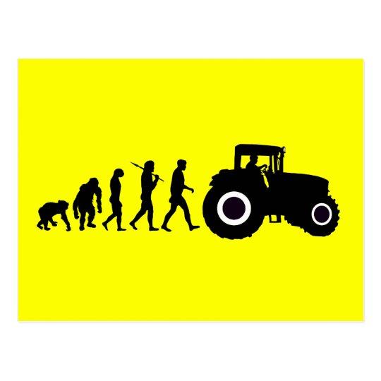 Farmers Evolution of Farming Farm Tractor Drivers Postcard