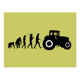 Farmers Evolution of Farming Farm Tractor Drivers Postcard