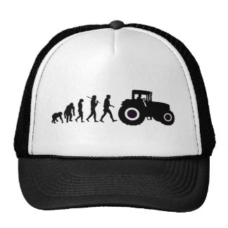 Farmers Evolution of Farming Farm Tractor Drivers Trucker Hat