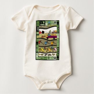 Farmers feed the world baby bodysuit