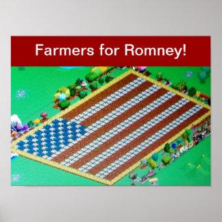Farmer's for Romney! Poster