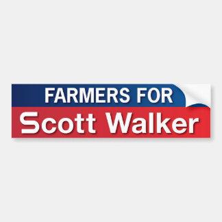 Farmers for Scott Walker Car Bumper Sticker