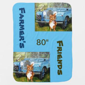 Farmer's Friends -Baby Blanket Stroller Blanket