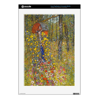 Farmers garden with crucifix by Gustav Klimt Decal For PS3