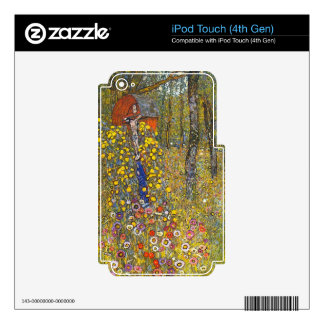 Farmers garden with crucifix by Gustav Klimt iPod Touch 4G Decal