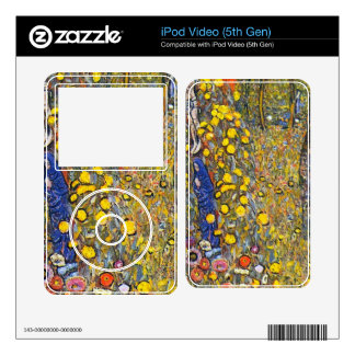 Farmers garden with crucifix by Gustav Klimt Decal For iPod Video