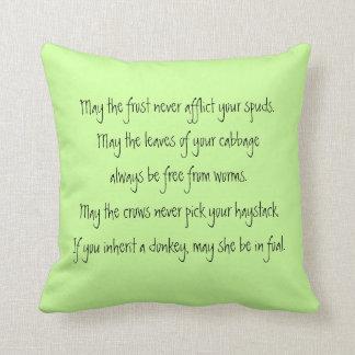 farmers irish blessing throw pillow