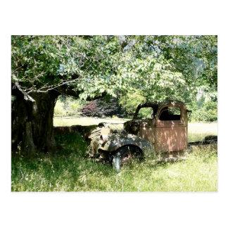Farmer's Junky Truck Rusting Away Postcard