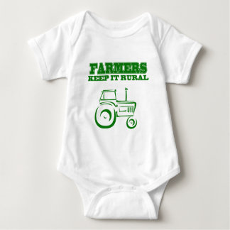 Farmers Keep It Rural Baby Bodysuit