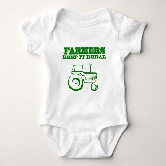 Farmers Keep It Rural Baby Bodysuit