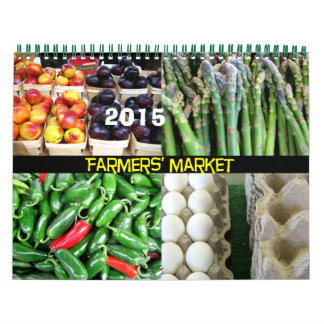 Farmers' Market 2015 calendar