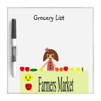 Farmers Market 2.0 Grocery List 99.2 Dry-Erase Board