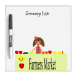 Farmers Market 2.0 Grocery List 99.2 Dry-Erase Whiteboards