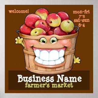 Farmer's Market Apple Orchard Flea Market promo LG Print