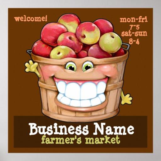 Farmer's Market Apple Orchard Flea Market promo LG Poster