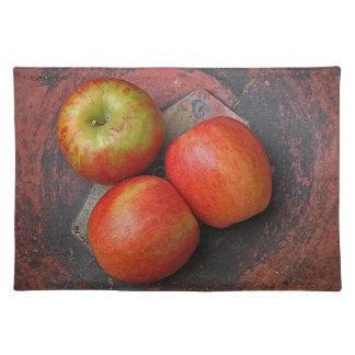 Farmers' Market apples place mat Cloth Placemat