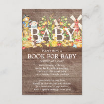 Farmers Market Baby Shower Book for Baby Invitation