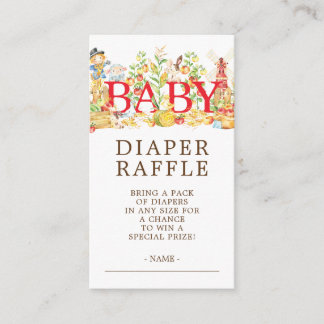 Farmers Market Baby Shower Diaper Raffle Ticket Enclosure Card