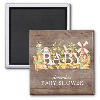 Farmers Market Baby Shower Favor Magnet