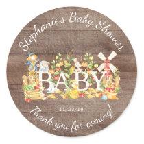 Farmers Market Baby Shower Favor Sticker
