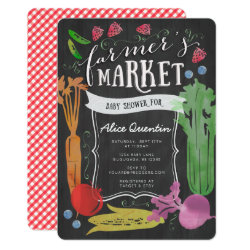 Farmers Market Baby Shower Invitation