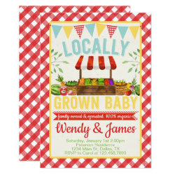 Farmers Market Baby Shower Invitation Invite