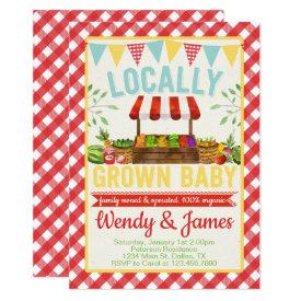 Farmers Market Baby Shower Invitation Invite