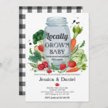Farmers Market Baby Shower Locally Grown Baby Invitation