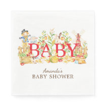 Farmers Market Baby Shower Paper Napkins