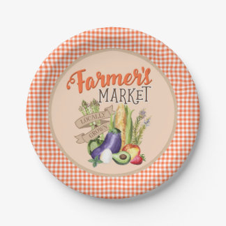 Farmers Market Baby Shower Paper Plate