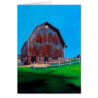 Farmers Market Barn Card