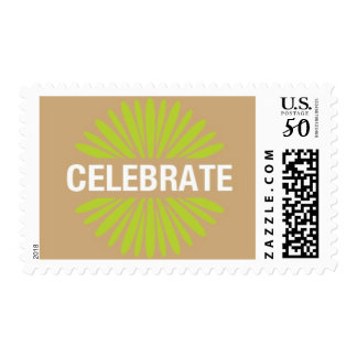 Farmer's Market - Celebrate, Tan and Green Postage