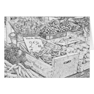 Farmer's Market Coloring Page Greeting Card
