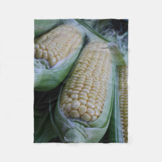 Farmers Market Corn Fleece Blanket